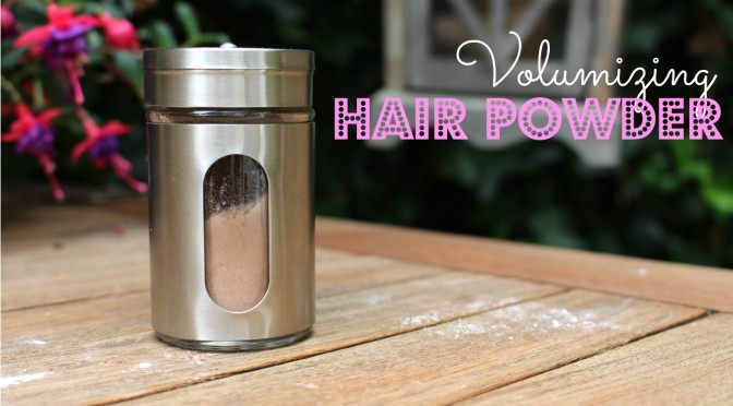 DIY Volumizing Powder