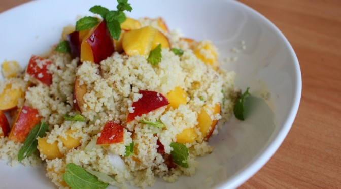 Peach Couscous Salad