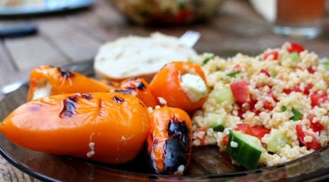 Grilled Stuffed Pepper With Bulgur