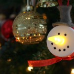 DIY Tea Light Snowmen