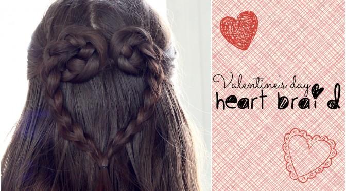 Valentine's Day Heart Braid
