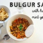 Bulgur Salad With Hummus & Mint Yoghurt Dip