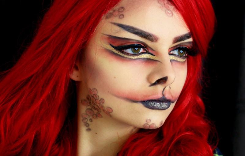 Fire Dragon Makeup