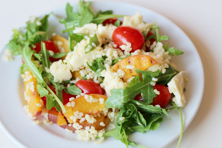 Grilled Nectarine Bulgur Salad