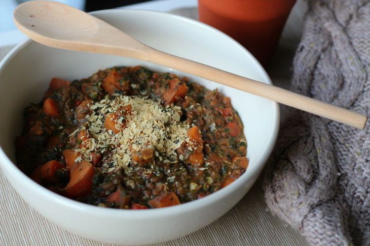 Hearty vegan lentil stew