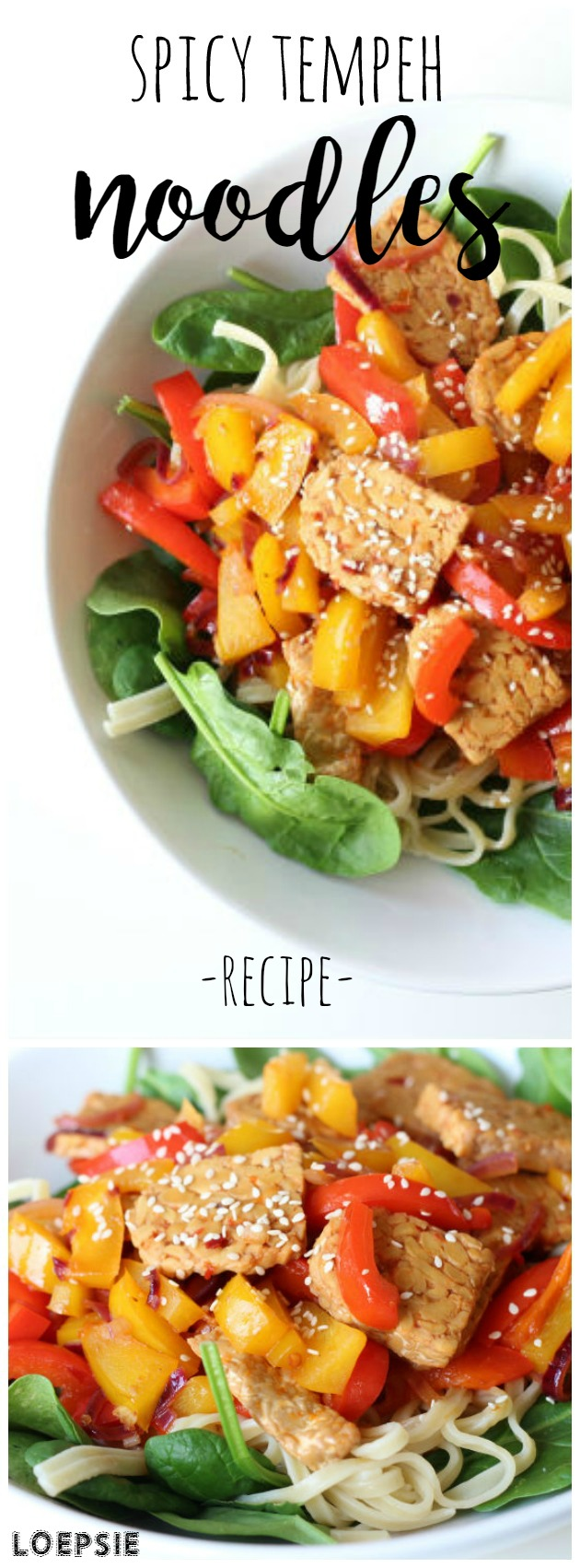 Spicy tempeh noodle recipe (vegan)