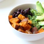 Mexican Bowl with Green Rice, Sweet Potato & Smoked Beans
