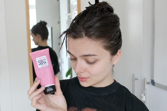 Neutralising Green Hair With Pink Dye Loepsie