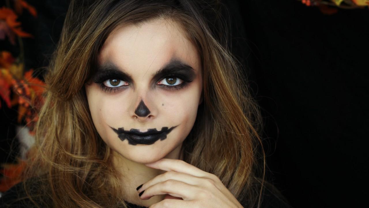 Witch Halloween Makeup Easy.Jack O Lantern Easy Halloween Makeup Tutorial Loepsie