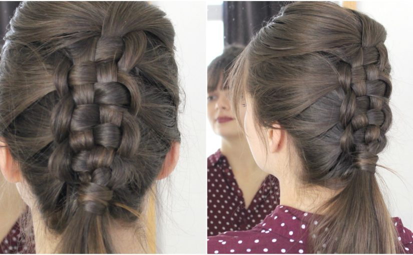 Zipper Braid Your Own Hair | Tutorial