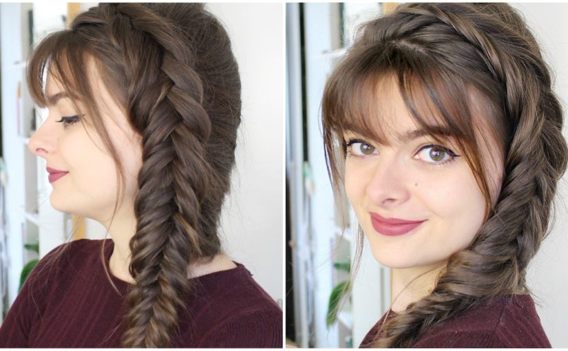 Female Celebrity Hairstyles Cute Fishtail Braided Hairstyle Kristen Hair Images In