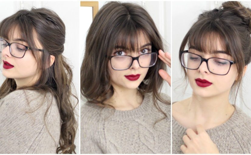 Hairstyles For Girls With Bangs & Glasses