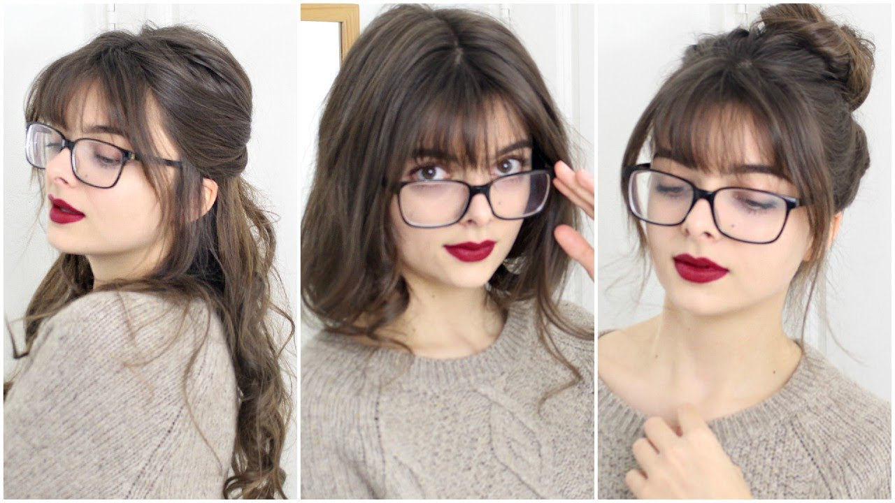 Hairstyles For Girls With Bangs Amp Glasses Loepsie
