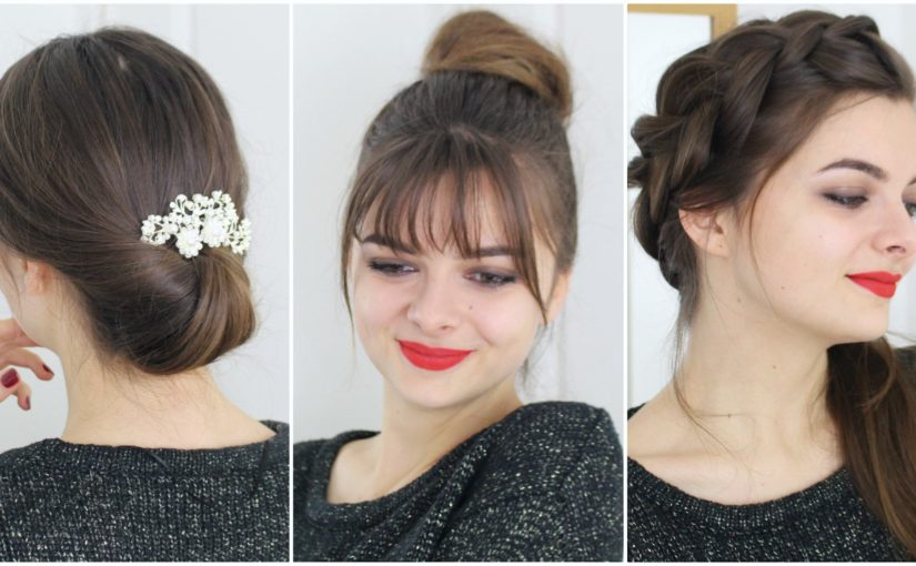 Christmas Hairstyles Easy.Easy No Heat Hairstyles For Christmas Loepsie